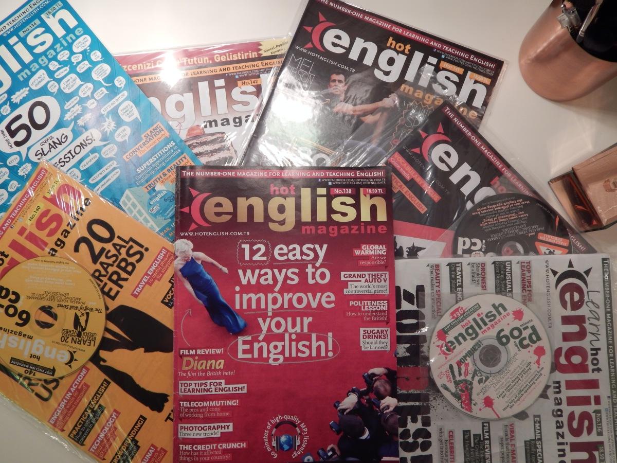 İngilizcesini geliştirmek veya canlı tutmak isteyenler için dergi önerisi: Hot English